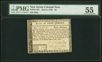 New Jersey June 9, 1780 $4 PMG About Uncirculated 55