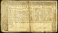 Maryland March 1, 1770 $2 Very Fine