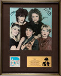 Music Memorabilia:Autographs and Signed Items, The Go-Go's Beauty and the Beat In-House Platinum Award Signed and Inscribed By Band (IRS, 1...