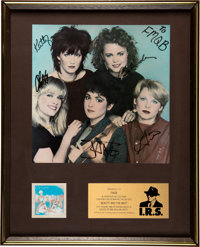 The Go-Go's Beauty and the Beat In-House Platinum Award Signed and Inscribed By Band (IRS, 1981)