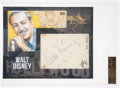 Movie/TV Memorabilia:Autographs and Signed Items, Walt Disney Signed Bar Cut With Color Sketches Slabbed and Graded 9.5 by Beckett and JSA. ...