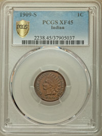 1909-S 1C XF45 PCGS. PCGS Population: (354/908 and 0/4+). NGC Census: (306/685 and 0/1+). CDN: $550 Whsle. Bid for NGC/P...