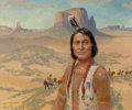 Paintings, Frederic Kimball Mizen (American, 1888-1964). Chief Yellow Hand. Oil on canvas. 30 x 36 inches (76.2 x 91.4 cm). Signed ...