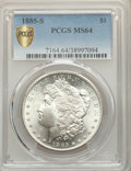 1885-S $1 MS64 PCGS. PCGS Population: (2728/741). NGC Census: (1405/251). CDN: $525 Whsle. Bid for NGC/PCGS MS64. Mintag...