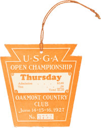 1927 U.S. Open Championship Golf Pass