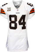Football Collectibles:Uniforms, 2007 Joe Jurevicius Game Worn & Unwashed Cleveland Browns Jersey - Used 9/23 vs. Raiders & 10/28 vs. Rams....