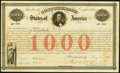 Confederate Notes:Group Lots, Ball 16 Cr. 4 $1,000 1861 Bond Extremely Fine.. ...