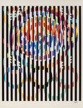 Prints & Multiples, Yaacov Agam (b. 1928). Message of Peace, from Official Arts Portfolio of the XXIVth Olympiad, Seoul, Korea, 1988. Serigr...