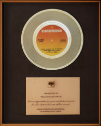 """Loggins and Messina """"Your Mama Don't Dance"""" In-House Sales Award (Columbia, 1972)"""