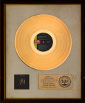 Music Memorabilia:Awards, Johnny Rivers A Touch of Gold RIAA White Matte Gold Record Sales Award (Imperial, 1969)....