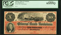 Obsoletes By State:Louisiana, New Orleans, LA- Citizens' Bank of Louisiana $10 18__ G26a Remainder PCGS Gem New 65PPQ.. ...