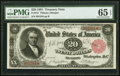 Large Size:Treasury Notes, Fr. 375 $20 1891 Treasury Note PMG Gem Uncirculated 65 EPQ.. ...