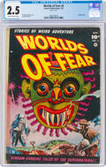 Golden Age (1938-1955):Horror, Worlds of Fear #3 (Fawcett Publications, 1952) CGC GD+ 2.5 Slightly brittle pages....