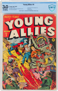 Young Allies Comics #9 (Timely, 1943) CBCS GD/VG 3.0 Off-white pages