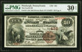 National Bank Notes:Pennsylvania, Pittsburgh, PA - $10 1882 Brown Back Fr. 479 The Fourth National Bank Ch. # 432 PMG Very Fine 30 EPQ.. ...