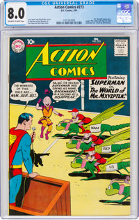 Action Comics #273 (DC, 1961) CGC VF 8.0 Off-white to white pages