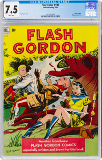 Four Color #190 Flash Gordon (Dell, 1948) CGC VF- 7.5 White pages