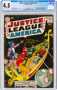 Justice League of America #3 (DC, 1961) CGC VG+ 4.5 Off-white to white pages