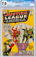 Silver Age (1956-1969):Superhero, Justice League of America #4 (DC, 1961) CGC FN/VF 7.0 Cream to off-white pages....