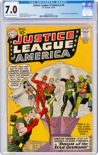 Justice League of America #4 (DC, 1961) CGC FN/VF 7.0 Cream to off-white pages