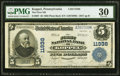 National Bank Notes:Pennsylvania, Koppel, PA - $5 1902 Plain Back Fr. 607 The First National Bank Ch. # 11938 PMG Very Fine 30.. ...