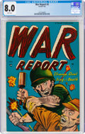 Golden Age (1938-1955):War, War Report #3 (Farrell, 1953) CGC VF 8.0 White pages....