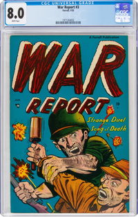 War Report #3 (Farrell, 1953) CGC VF 8.0 White pages