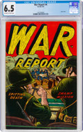 Golden Age (1938-1955):War, War Report #4 (Farrell, 1953) CGC FN+ 6.5 Off-white to white pages....