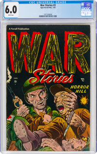 War Stories #3 (Ajax-Farrell, 1953) CGC FN 6.0 White pages