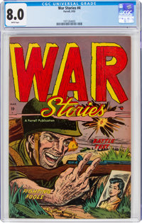 War Stories #4 (Ajax/Farrell, 1953) CGC VF 8.0 White pages