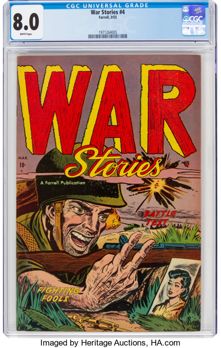 War Stories #4 (Ajax/Farrell, 1953) CGC VF 8.0 White pages....
