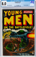 Golden Age (1938-1955):War, Young Men #20 (Atlas, 1953) CGC VF 8.0 Off-white to white pages....