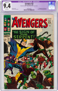 The Avengers #32 (Marvel, 1966) CGC Apparent NM 9.4 Slight (C-1) White pages
