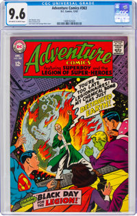 Adventure Comics #363 (DC, 1967) CGC NM+ 9.6 Off-white to white pages
