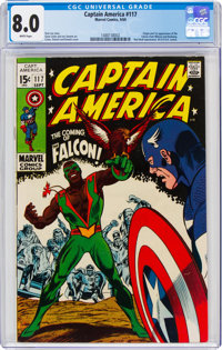 Captain America #117 (Marvel, 1969) CGC VF 8.0 White pages