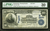 Rochester, PA - $10 1902 Plain Back Fr. 624 The First National Bank Ch. # (E)2977 PMG Very Fine 30