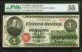 Fr. 16c $1 1862 Legal Tender PMG About Uncirculated 55
