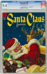 Four Color #525 Santa Claus Funnies (Dell, 1953) CGC NM 9.4 Off-white to white pages
