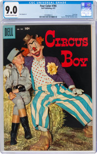 Four Color #785 Circus Boy (Dell, 1957) CGC VF/NM 9.0 Off-white to white pages