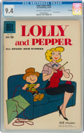 Silver Age (1956-1969):Humor, Four Color #978 Lolly and Pepper - File Copy (Dell, 1959) CGC NM 9.4 Off-white to white pages....