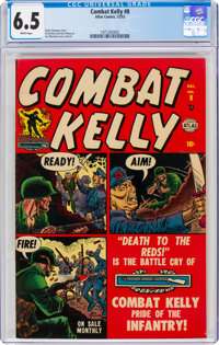 Combat Kelly #8 (Atlas, 1952) CGC FN+ 6.5 White pages