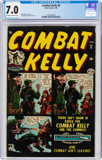 Combat Kelly #9 (Atlas, 1953) CGC FN/VF 7.0 Off-white to white pages