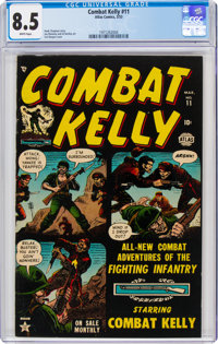 Combat Kelly #11 (Atlas, 1953) CGC VF+ 8.5 White pages