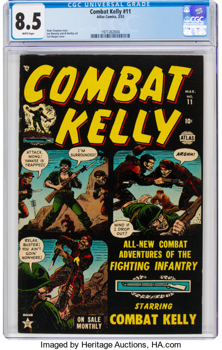 Combat Kelly #11 (Atlas, 1953) CGC VF+ 8.5 White pages....