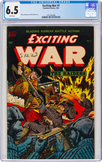 Exciting War #7 (Standard, 1953) CGC FN+ 6.5 White pages