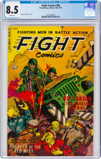 Fight Comics #84 (Fiction House, 1952) CGC VF+ 8.5 White pages