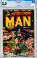 Golden Age (1938-1955):War, Fighting Man #5 (Farrell, 1953) CGC VF 8.0 White pages....