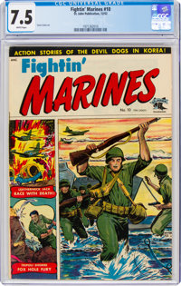 Fightin' Marines #10 (St. John, 1952) CGC VF- 7.5 White pages