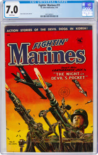 Fightin' Marines #11 (St. John, 1953) CGC FN/VF 7.0 White pages