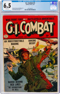 Golden Age (1938-1955):War, G.I. Combat #3 (Quality, 1953) CGC FN+ 6.5 White pages....